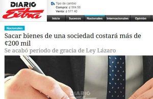 Diario Extra publica la opinión de nuestro Asociado Tomás Quirós sobre el periodo de gracia de la Ley Lázaro