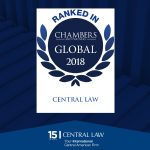 Chambers Global 2018 distinguishes CENTRAL LAW