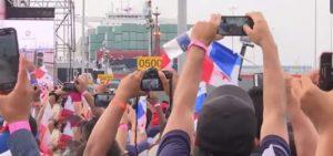 Panamá inaugura ampliación del Canal con paso de un gigantesco barco chino