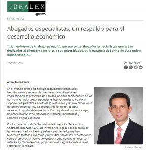 Nuestro Socio Álvaro Molina publica en Idealex un artículo sobre la importancia de la especialización de los abogados